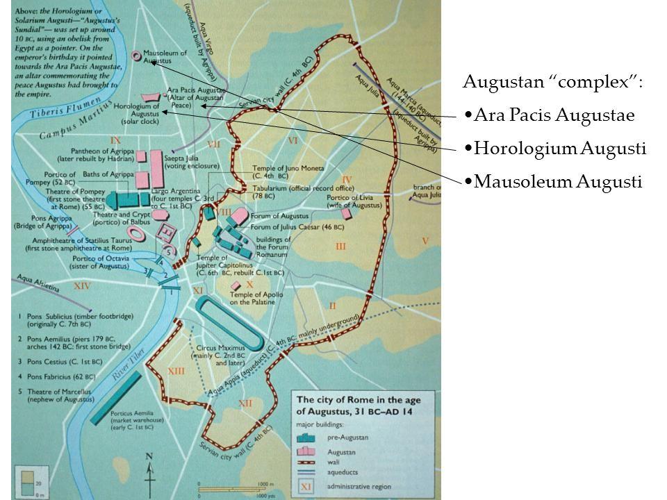 Augustan complex: Ara Pacis Augustae Horologium Augusti Mausoleum Augusti