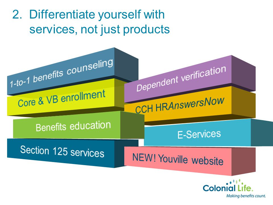 2. Differentiate yourself with services, not just products