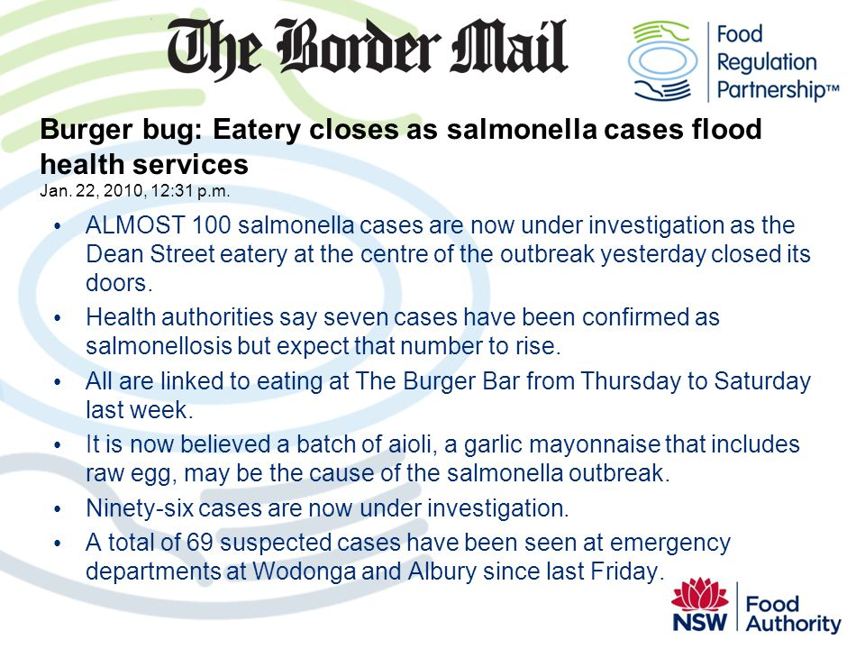 ALMOST 100 salmonella cases are now under investigation as the Dean Street eatery at the centre of the outbreak yesterday closed its doors. Health aut