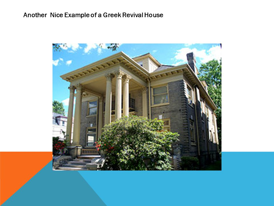Another Nice Example of a Greek Revival House