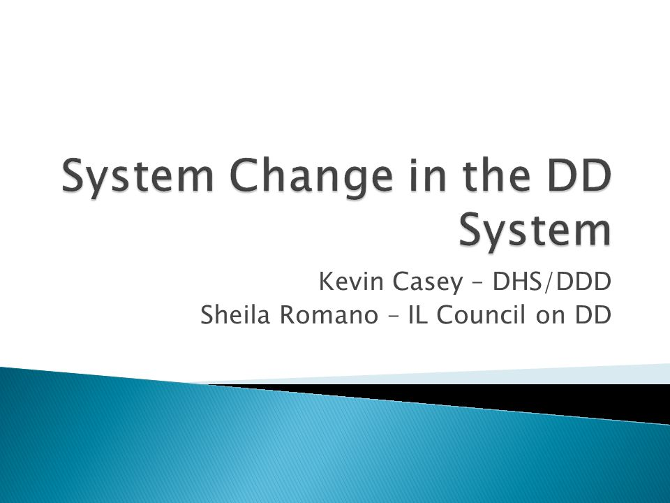Kevin Casey – DHS/DDD Sheila Romano – IL Council on DD