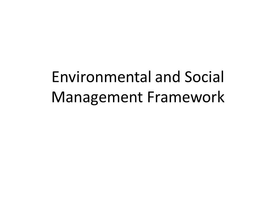 Environmental and Social Management Framework