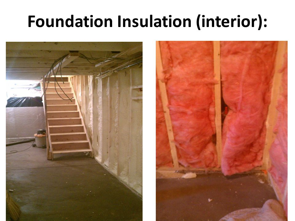 Foundation Insulation (interior):