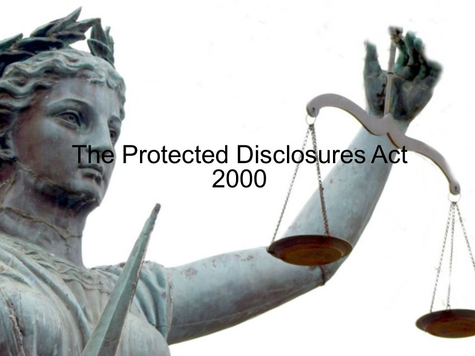 The Protected Disclosures Act 2000