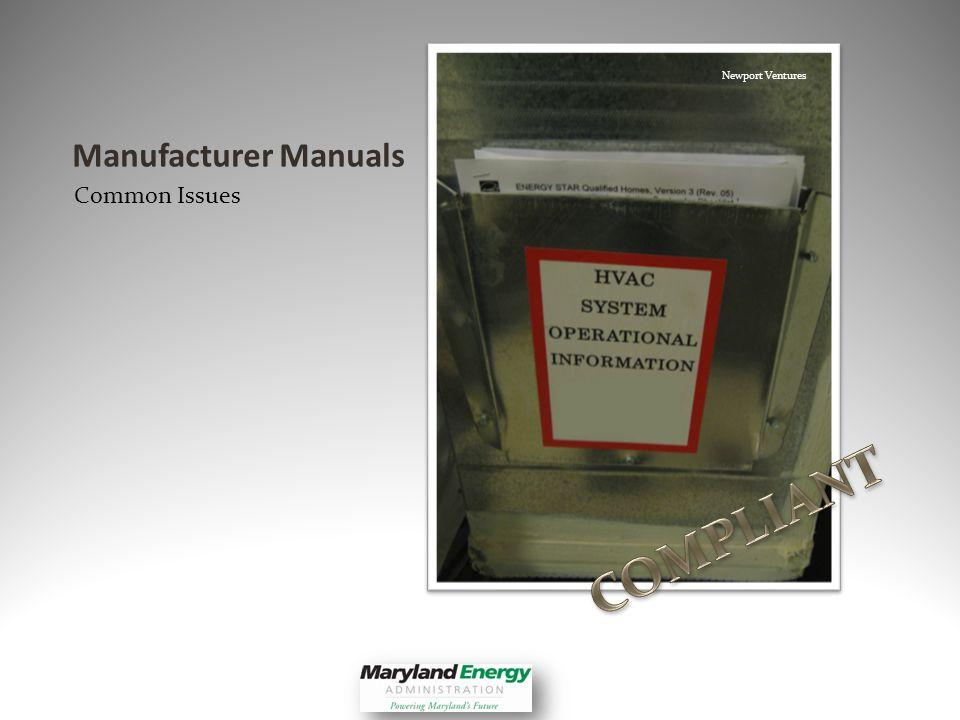 Manufacturer Manuals Common Issues Newport Ventures