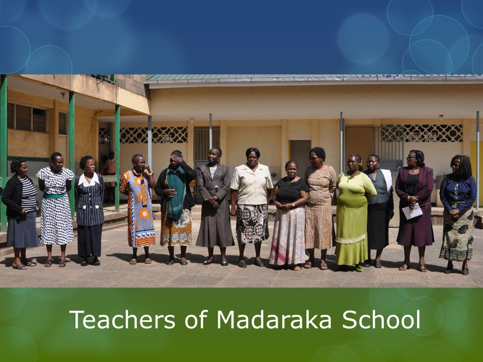 Teachers of Madaraka School