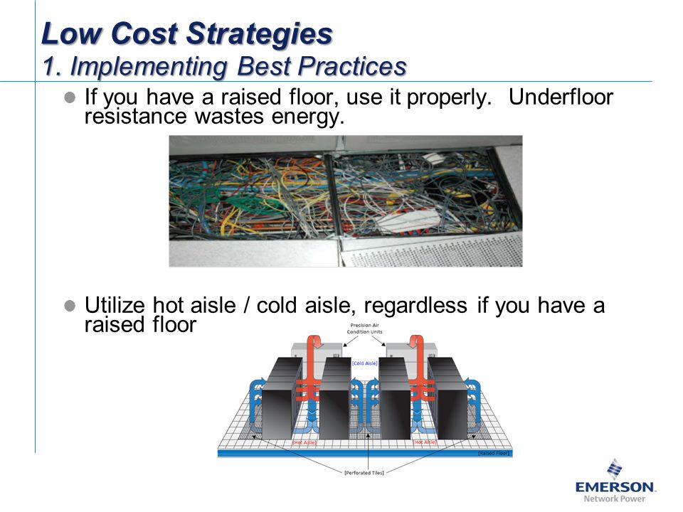 If you have a raised floor, use it properly.Underfloor resistance wastes energy.