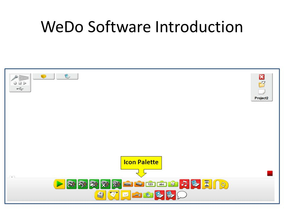WeDo Software Introduction Icon Palette