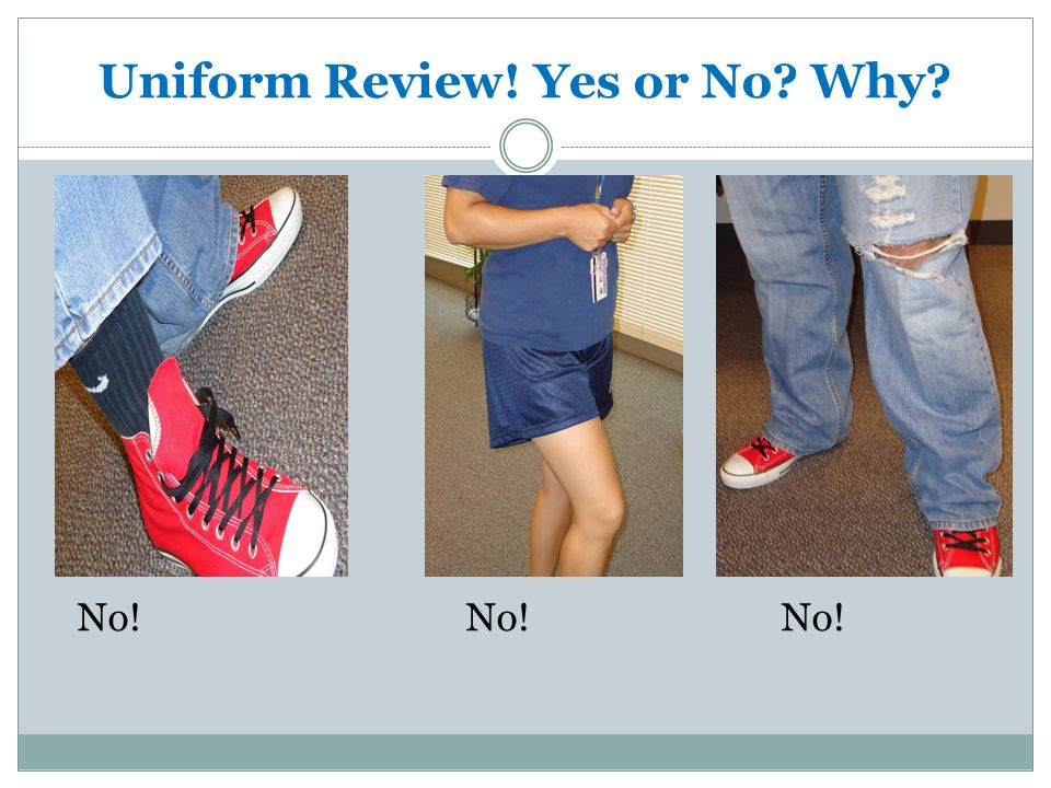 Uniform Review! Yes or No Why No!No!No!