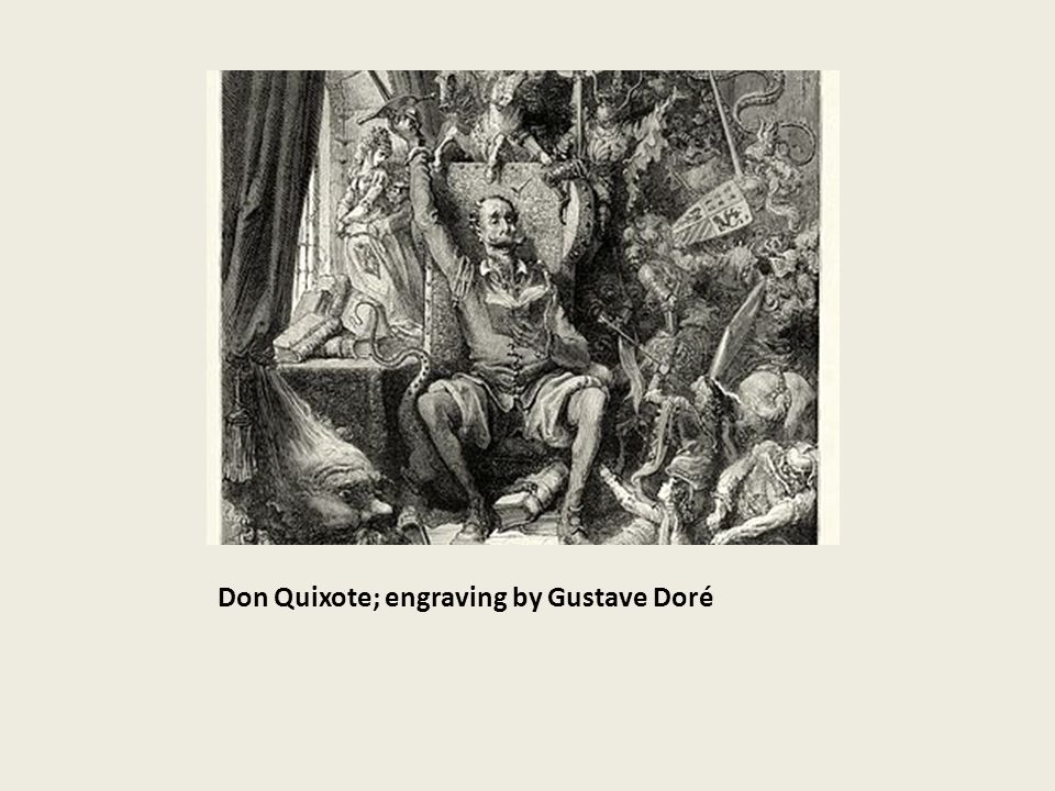 Don Quixote; engraving by Gustave Doré