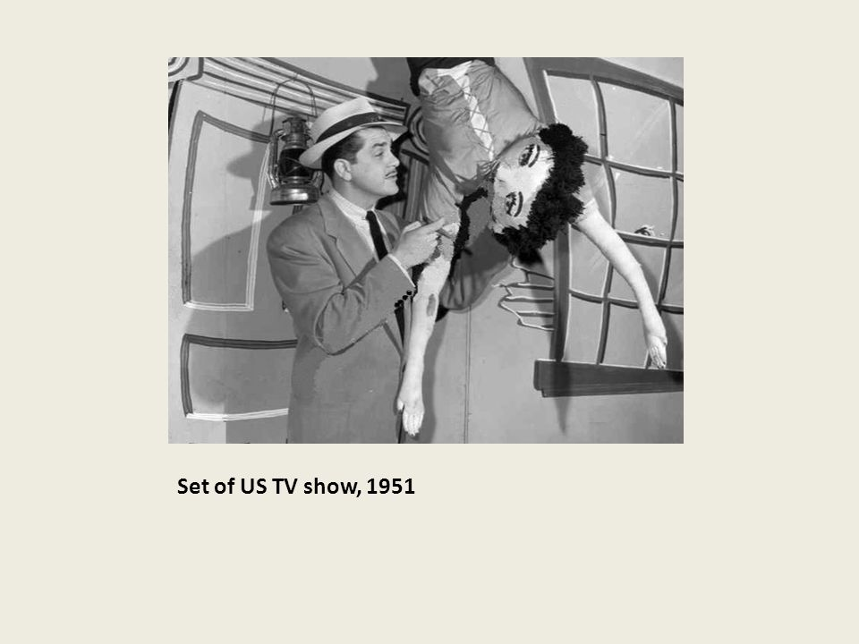 Set of US TV show, 1951