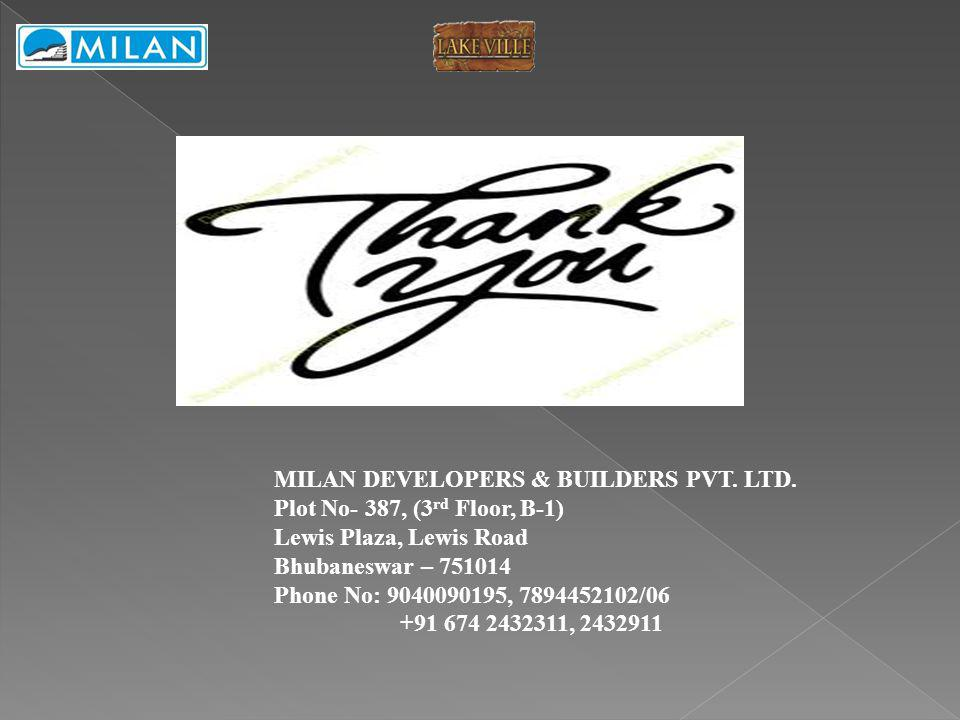 MILAN DEVELOPERS & BUILDERS PVT. LTD.