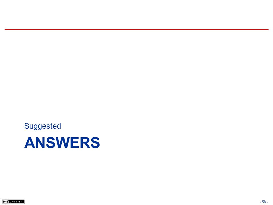 ANSWERS Suggested - 58 -
