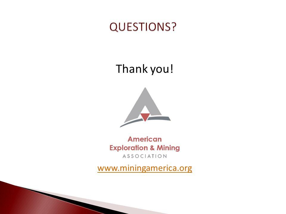 Thank you! www.miningamerica.org