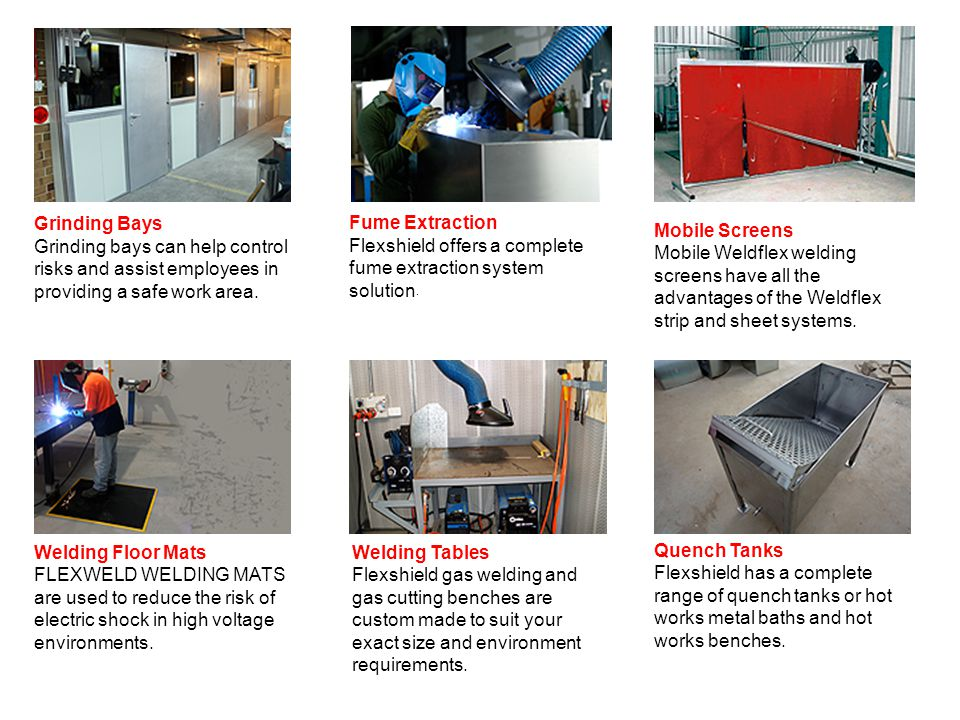 Grinding Bays Grinding bays can help control risks and assist employees in providing a safe work area.
