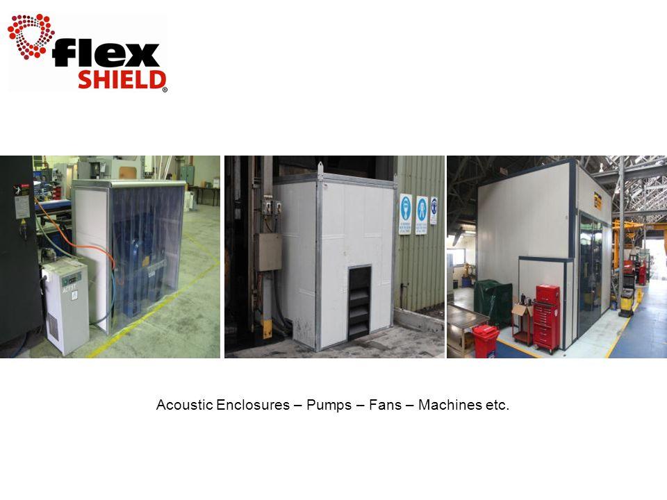 Acoustic Enclosures – Pumps – Fans – Machines etc.