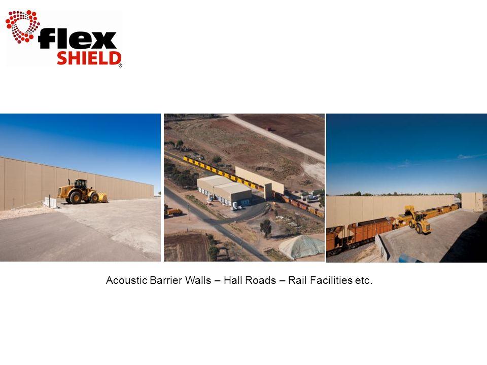 Acoustic Barrier Walls – Hall Roads – Rail Facilities etc.