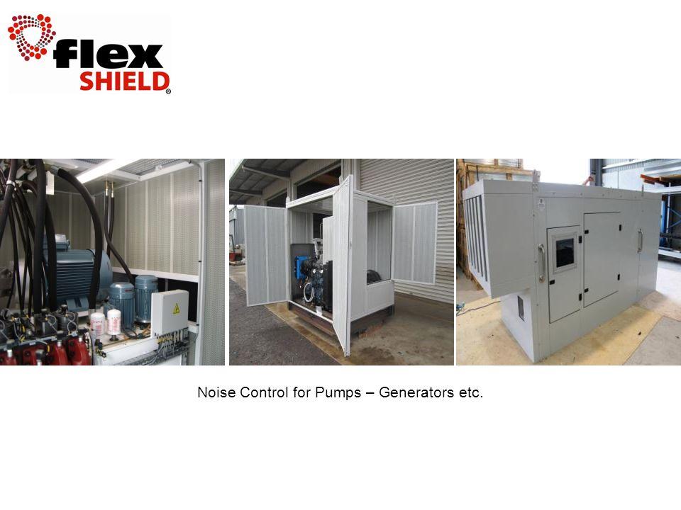 Noise Control for Pumps – Generators etc.