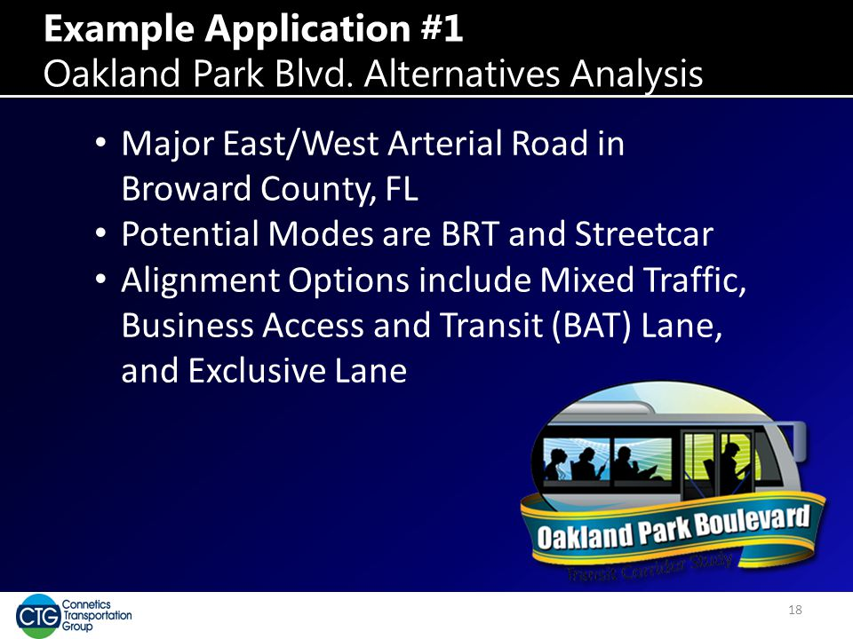 Example Application #1 Oakland Park Blvd.
