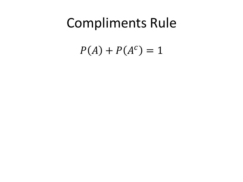 Compliments Rule