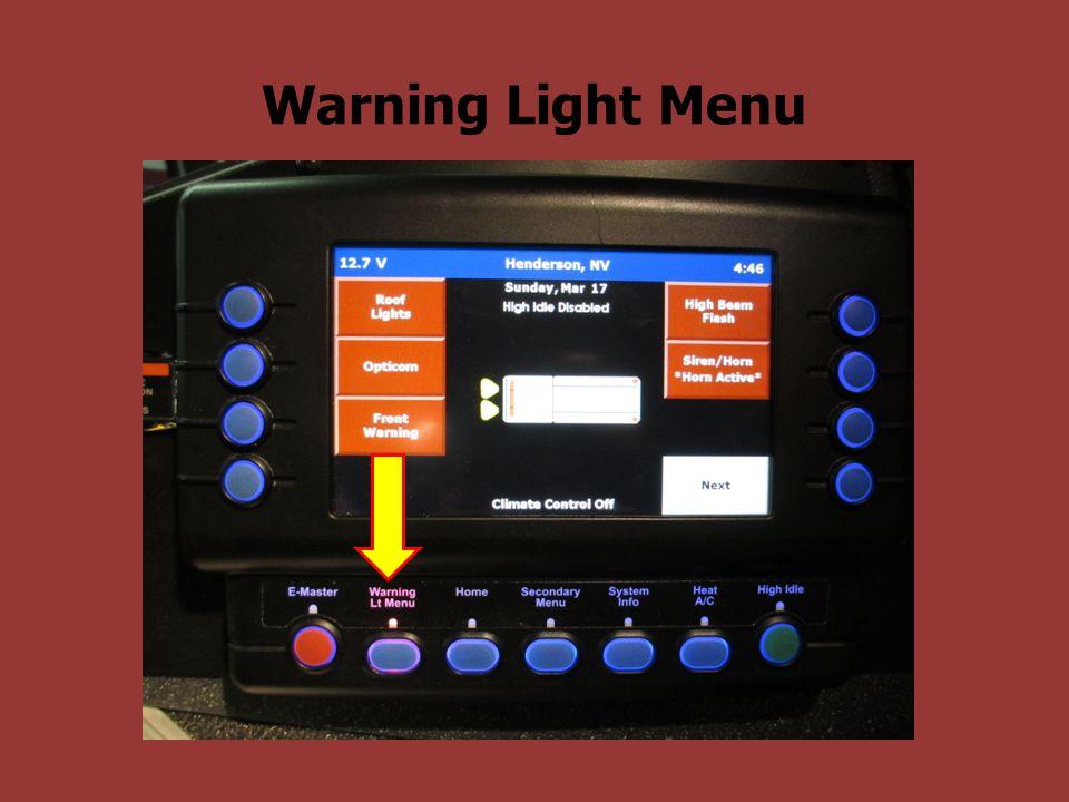 Warning Light Menu