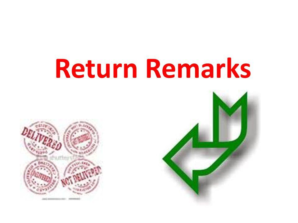 Return Remarks