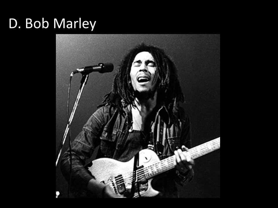 D. Bob Marley