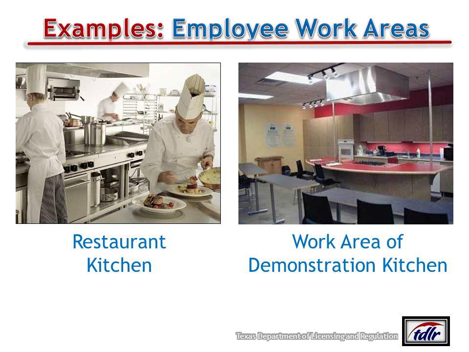 Restaurant Kitchen Work Area of Demonstration Kitchen