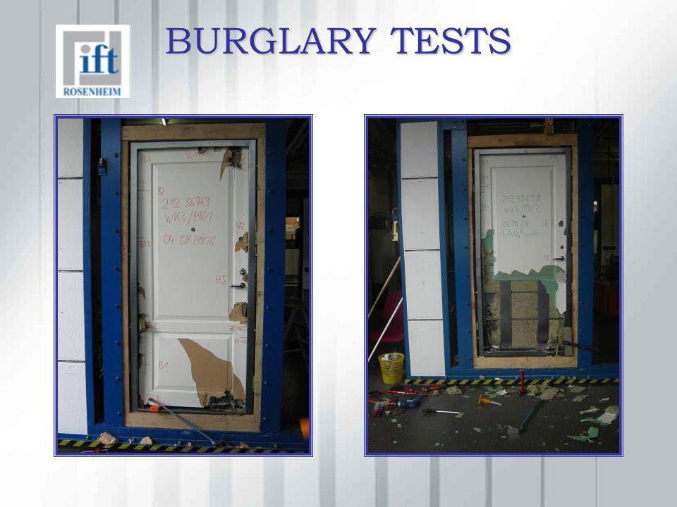 BURGLARY TESTS