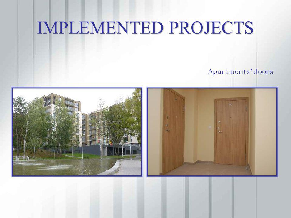 IMPLEMENTED PROJECTS Apartments doors