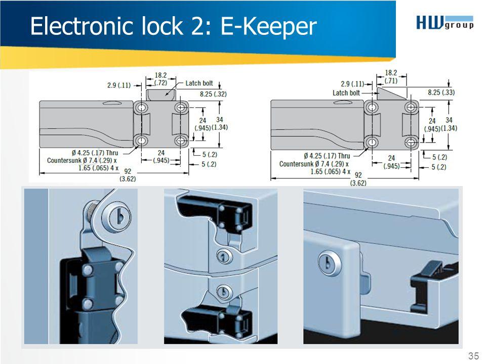 35 Electronic lock 2: E-Keeper