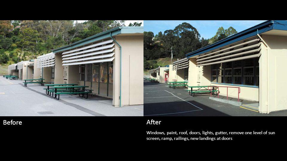 Phase 1 - Paint, lights, door hardware. Phase 2 summer 2012, landscape changes BeforeAfter