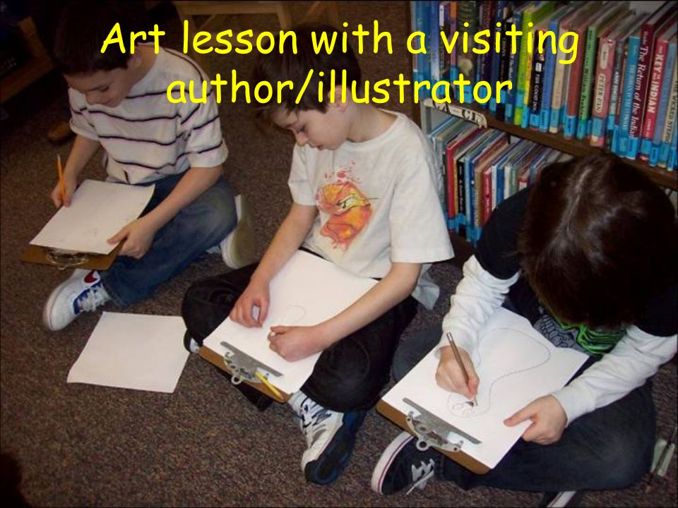 Art lesson with a visiting author/illustrator