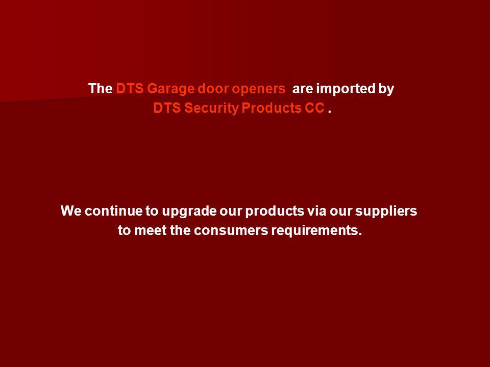 Garage door operator (GDO) Training on DTS600/800 – 12R – 16A