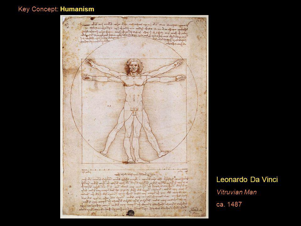 Key Concept: Humanism Leonardo Da Vinci Vitruvian Man ca. 1487