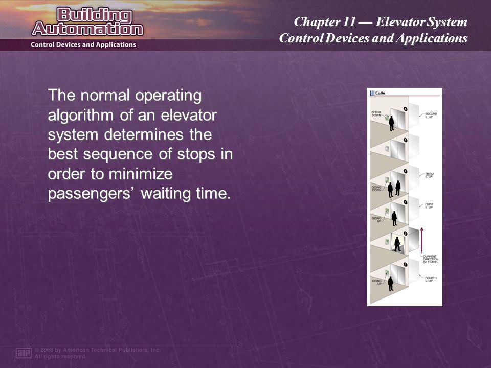 Chapter 11 Elevator System Control Devices and Applications The elevator system can respond to signals from other building systems to add calls, contr