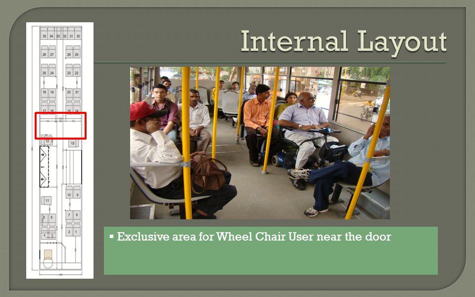 Exclusive area for Wheel Chair User near the door