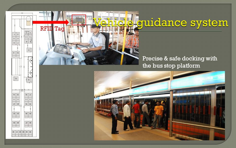 RFID Tag Precise & safe docking with the bus stop platform
