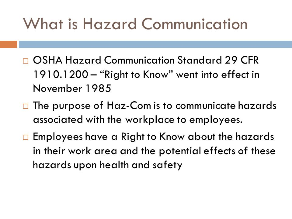 Physical hazards are those hazards which threaten your physical safety