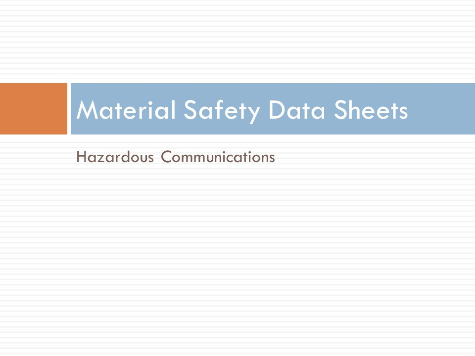 HMIS Label Designed to go on individual containers of products that dont have the manufacturers labels Same color code/ numerical rating system as the NFPA diamonds