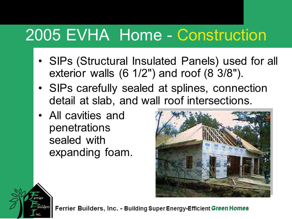 Green Homes Click to edit Master title style Ferrier Builders, Inc. - Building Super Energy-Efficient Green Homes 2005 EVHA Home - Construction SIPs (