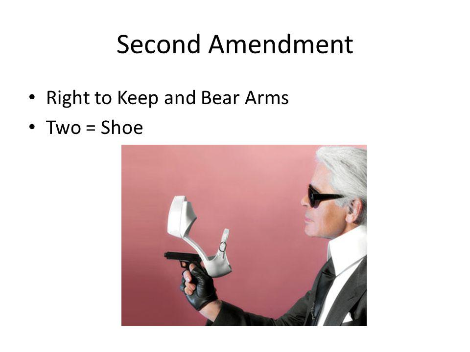 Second Amendment Right to Keep and Bear Arms Two = Shoe