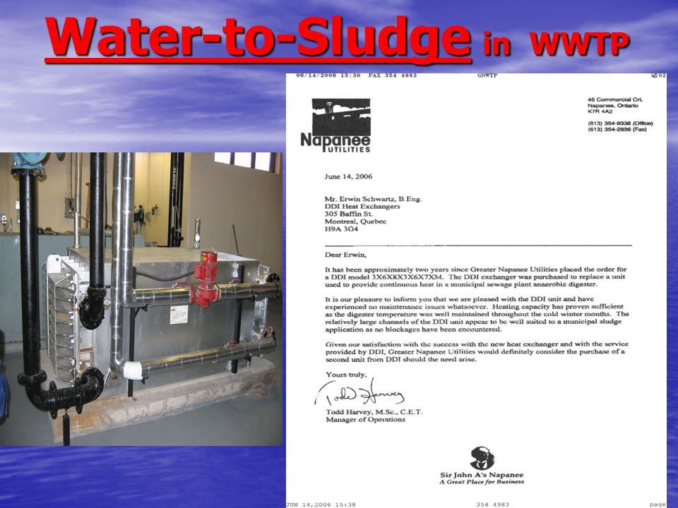 Water-to-Sludge in WWTP Water-to-Sludge in WWTP