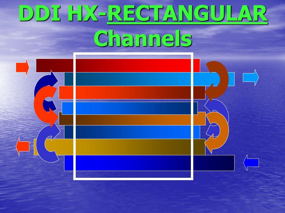 DDI HX-RECTANGULAR Channels