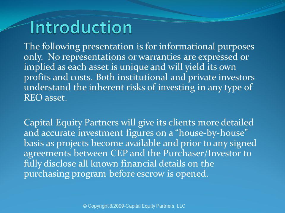 © Copyright 8/2009-Capital Equity Partners, LLC Property Performa 5103 E.
