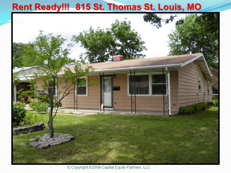Rent Ready!!! 815 St. Thomas St. Louis, MO