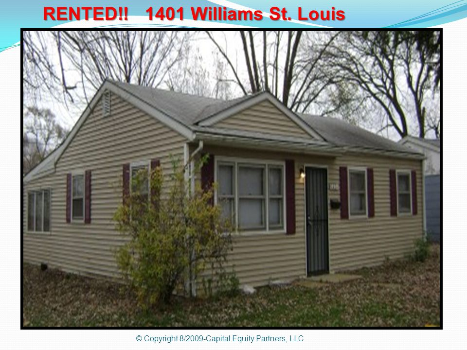 RENTED!! 1401 Williams St. Louis