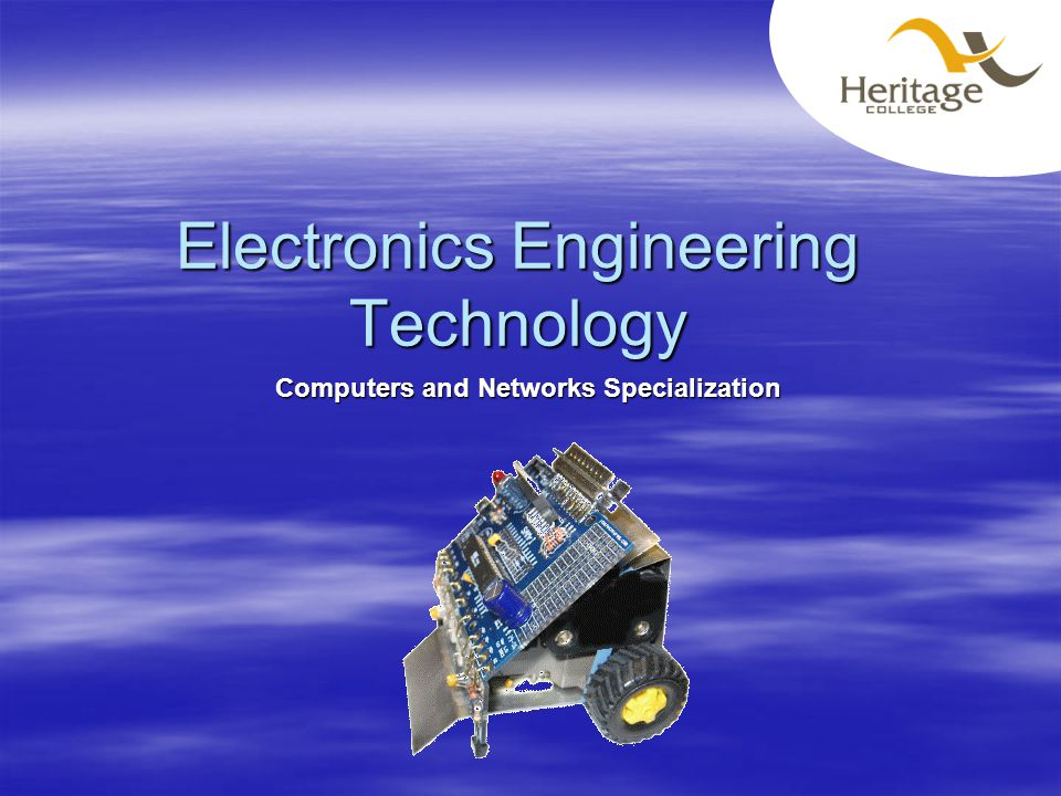 Electronics Engineering Technology Computers and Networks Specialization