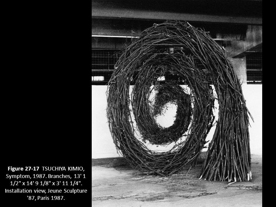 22 Figure 27-17 TSUCHIYA KIMIO, Symptom, 1987. Branches, 13' 1 1/2
