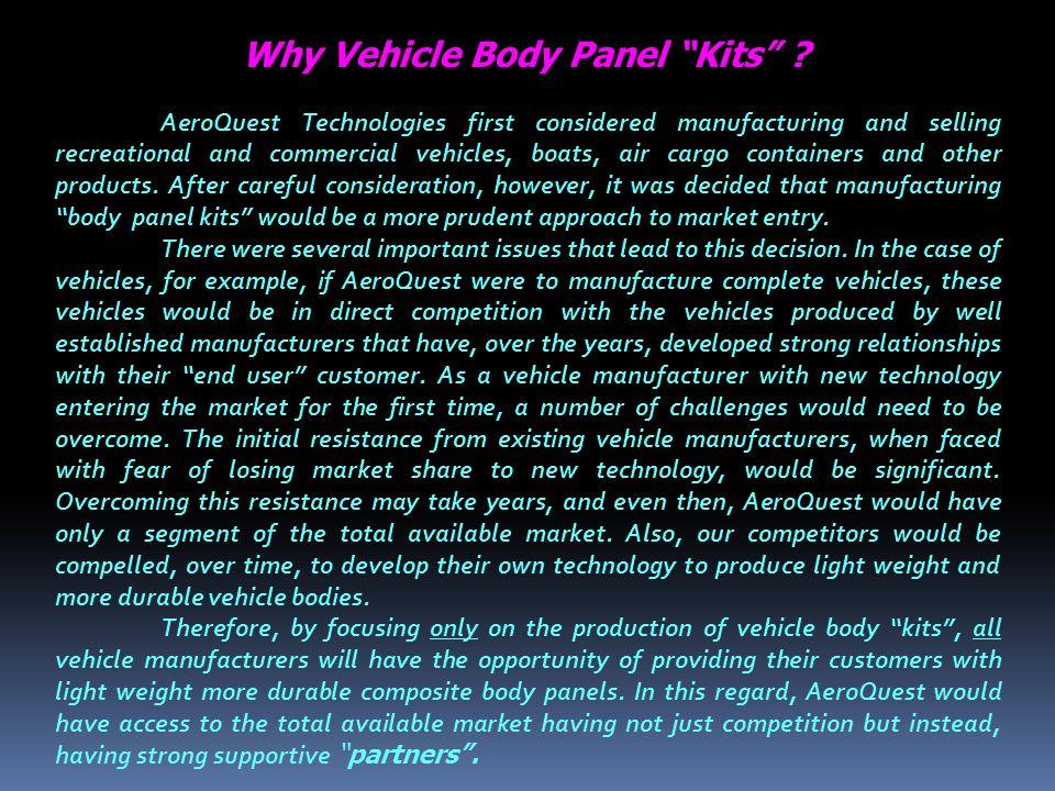 Why Vehicle Body Panel Kits .